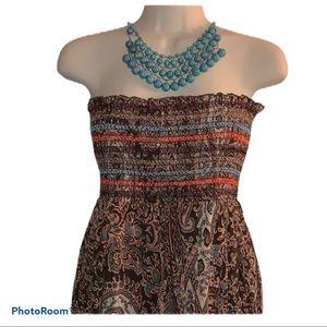 XL sleeveless dress ethnic parsley